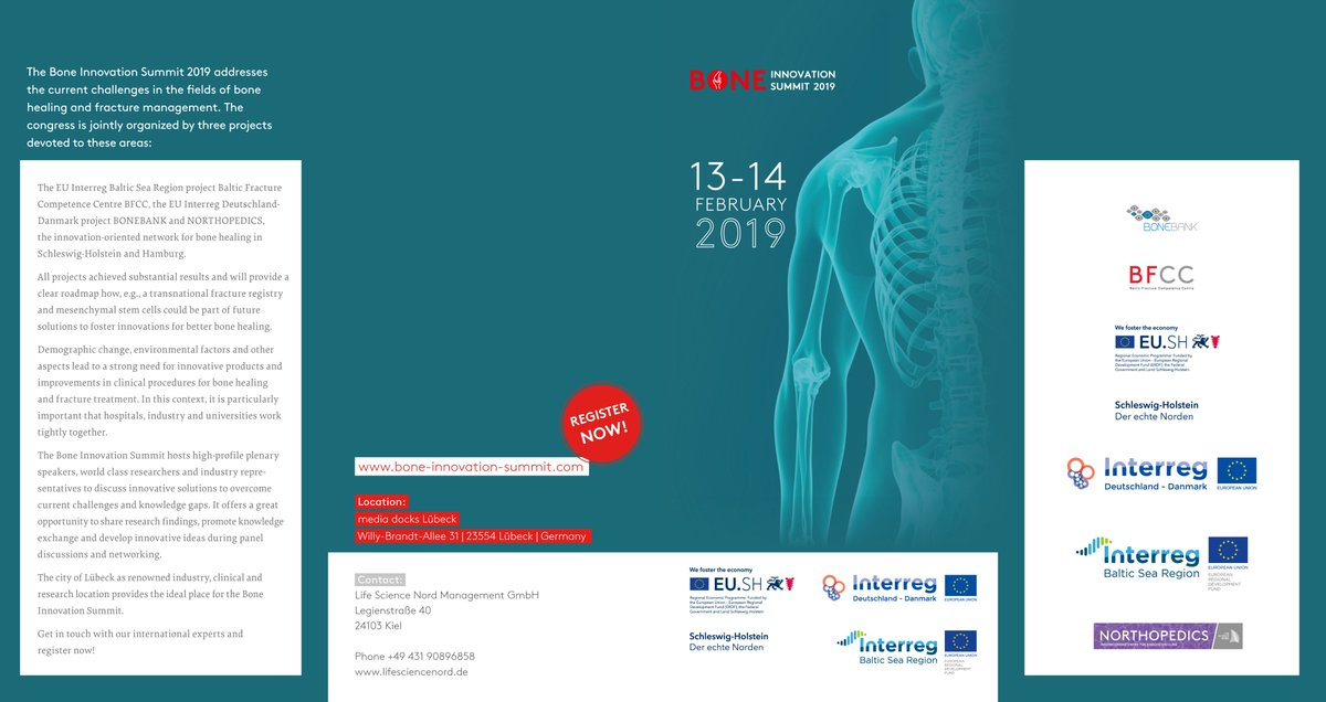#Transnational #cooperation within the project and with other projects in order to tackle together the challenges in efficient bone healing and fracture treatment. Register now for Bone Innovation Summit 2019! @EUSBSR