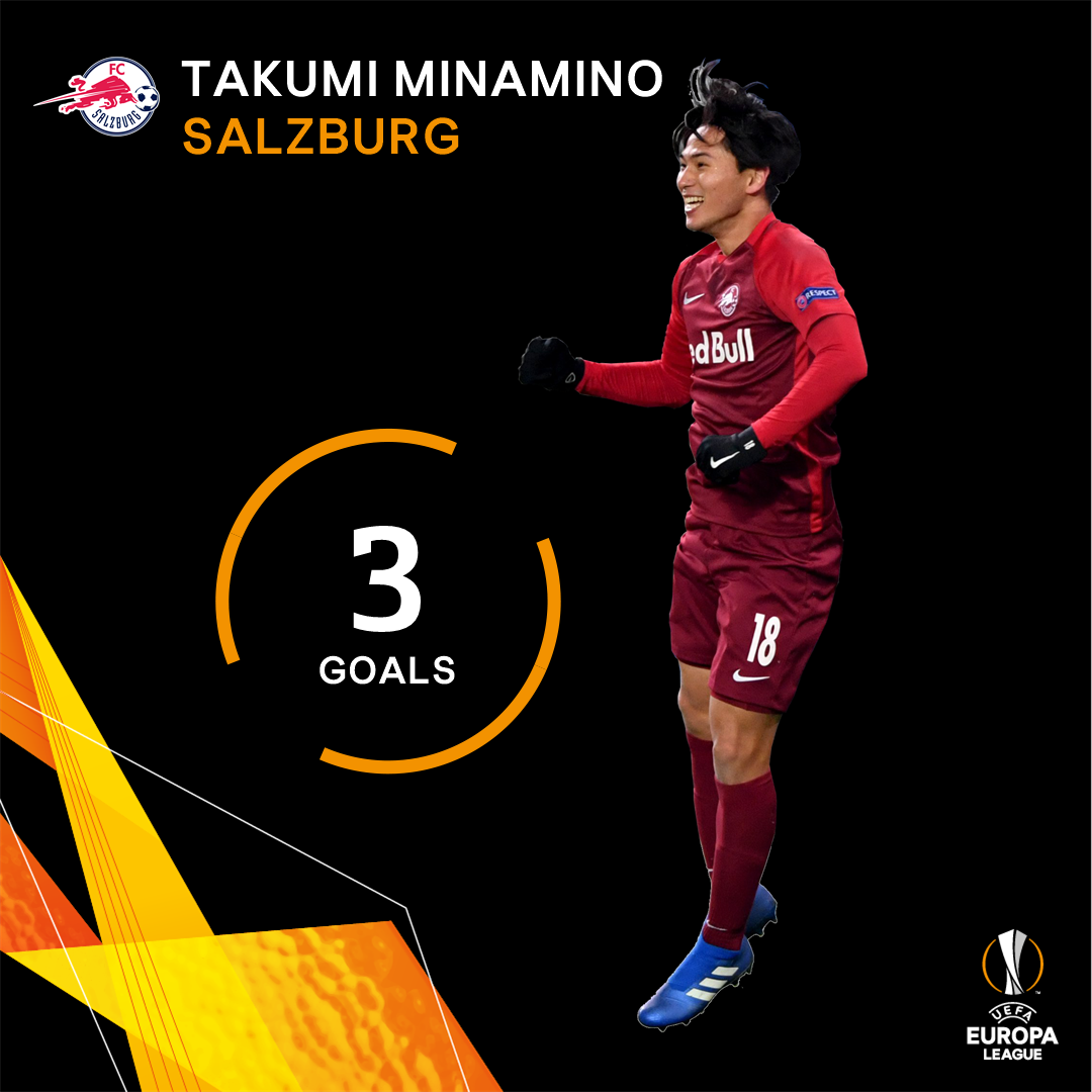 First Japanese player to score a UEFA hat-trick! 👏  ...and all 3 were in one half 😮  #UEL