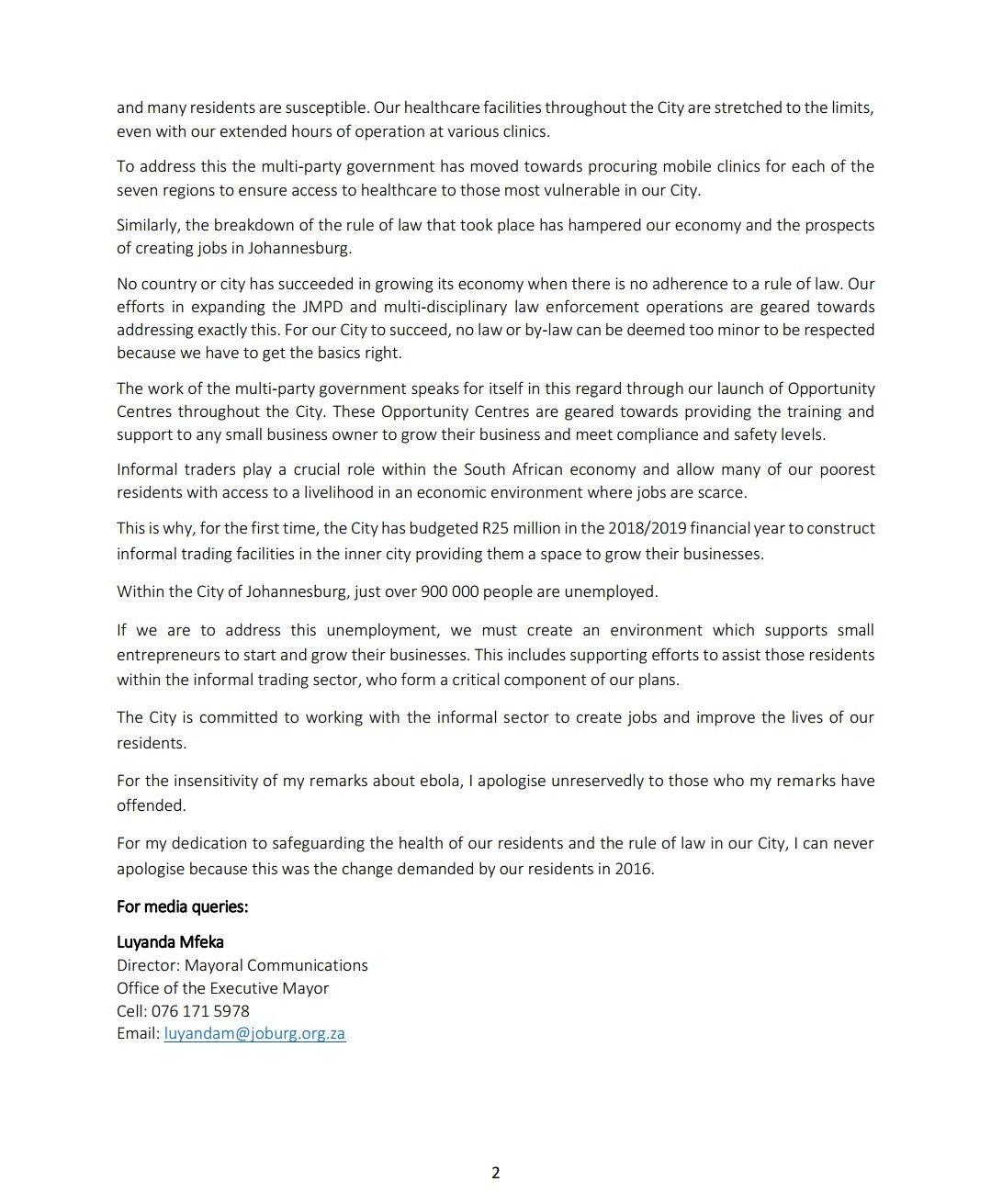 Herman Mashaba on Twitter