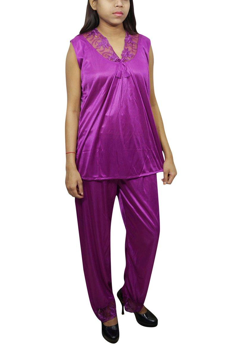 bc543390db7 Satin Nighty With Pajama Women Night Suits https   www.flipkart.com