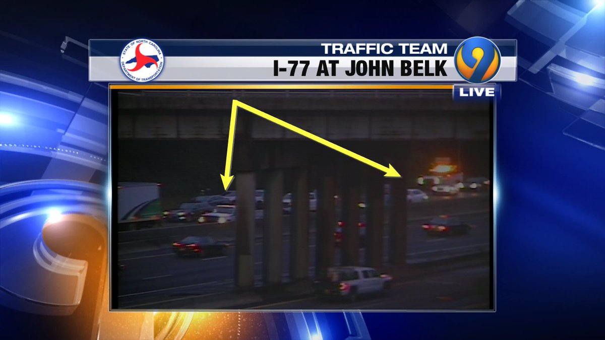 ACCIDENT: I-77 NB near Wilkinson Blvd. is blocking the right lane #cltraffic #clttraffic #clt<br>http://pic.twitter.com/jf9gcCSd6x