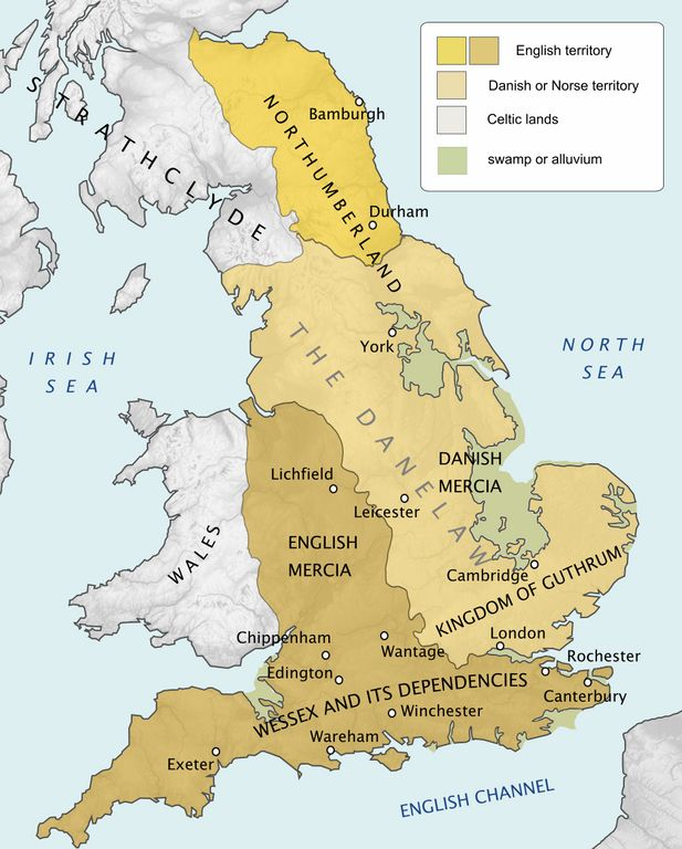 Show Map Of England.Simon Kuestenmacher On Twitter Map Shows England In 878 Ad