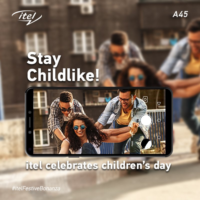 Replying to @itelMobileIndia: Bring out the child in you and enjoy every moment! #HappyChildrensDay #itelFestiveBonanza