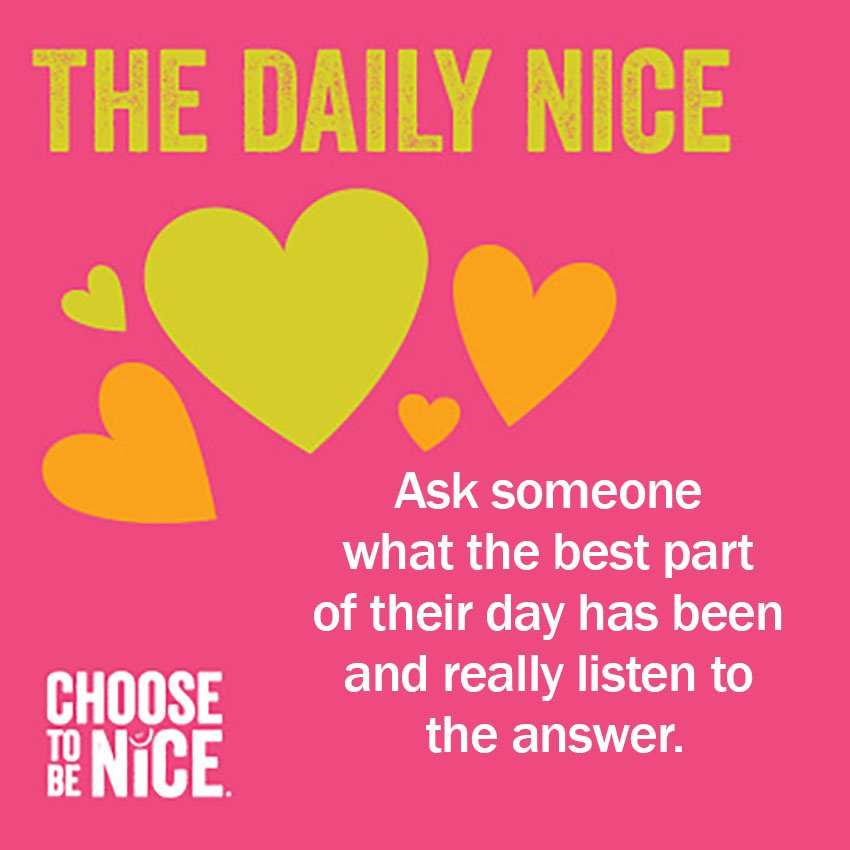 Choose To Be Nice on Twitter: