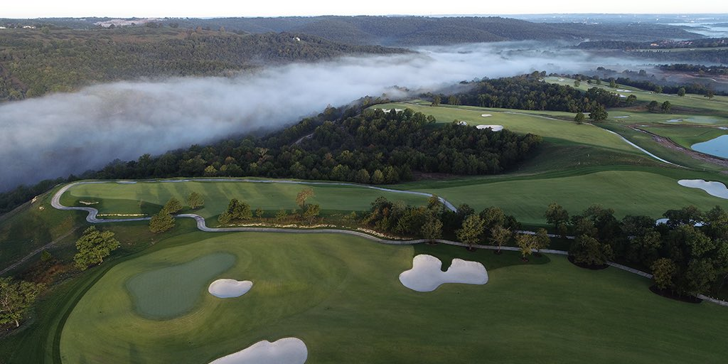 With the grassing completed on the front nine at Payne's Valley, we continue to move along nicely with our first public golf course in the U.S. @GolfBigCedar