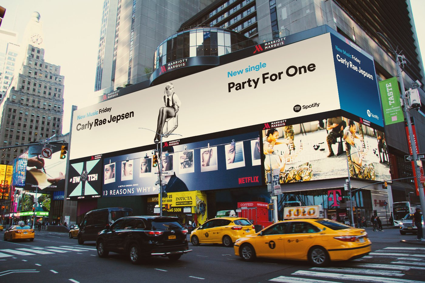 Ahhh thank you @spotify for including #PartyForOne on NMF and in Times Square!! �� https://t.co/AEqBJUnY7z