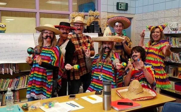 The schoolteachers who dressed up as 'Mexicans' and a MAGA wall for Halloween have been suspended