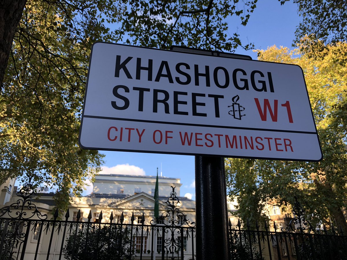 We just renamed the street outside the Saudi embassy in London