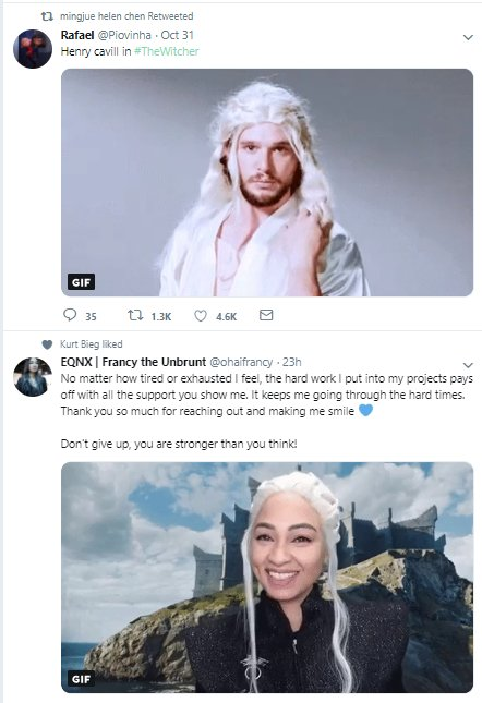@ohaifrancy My timeline has spoken. lol. Pulling off Khaleesi even through hard times! You got this <3