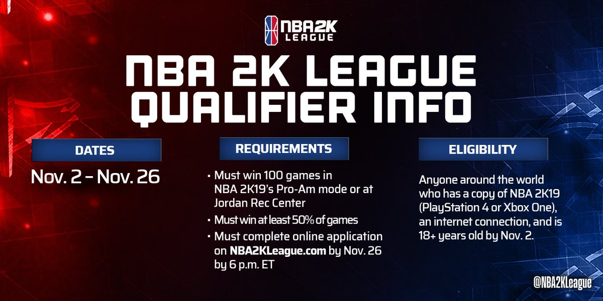📣 LETS GOOOO! The NBA 2K League Qualifier has begun - go get your wins and best of luck to everyone trying out for Season 2! 🏃🏻♂️🏃🏽♀️