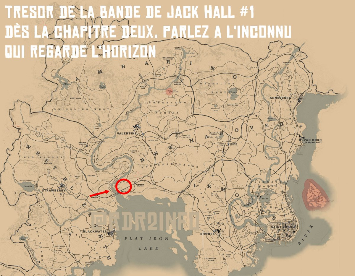 carte de la bande de jack hall 2 Red Dead Redemption 2 Info on Twitter: