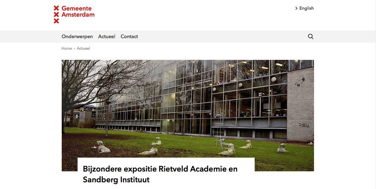 Rietveld academie @followrietveld twitter