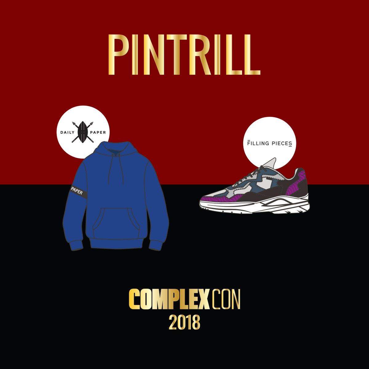 WE'RE ALMOST THERE!! Announcing #FillingPieces + @Dailypaper_ for #GoodTrillHunting ⚡️ See you this weekend, @ComplexCon!
