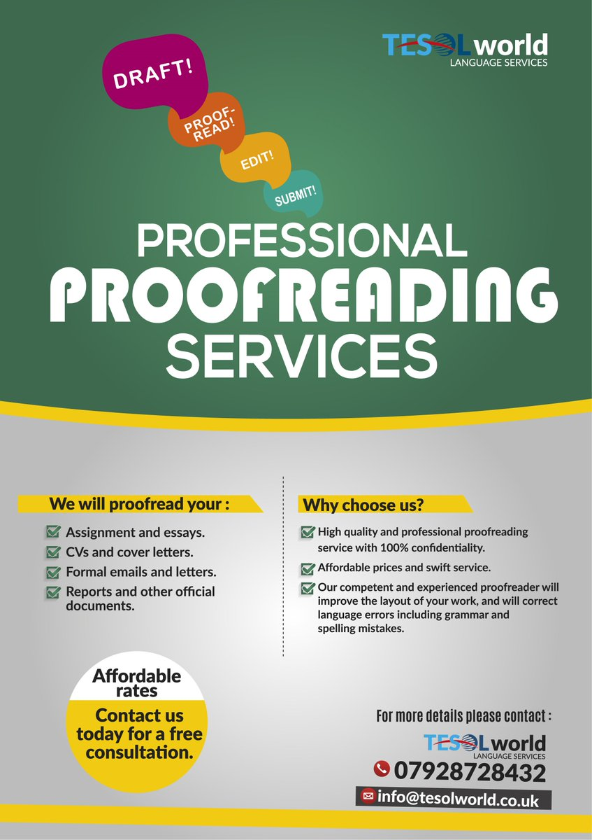 College essay proofreading service