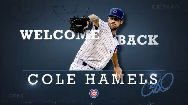 Welcome back, @ColeHamels!