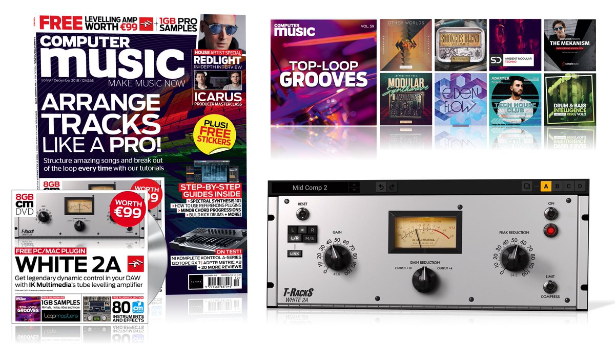 Our new issue is out now! Structure better tracks, free @ikmultimedia White 2A worth €99, @thisisicarus in-studio video, @UKREDLIGHT interview, free top loops and more! http://bit.ly/CMU263