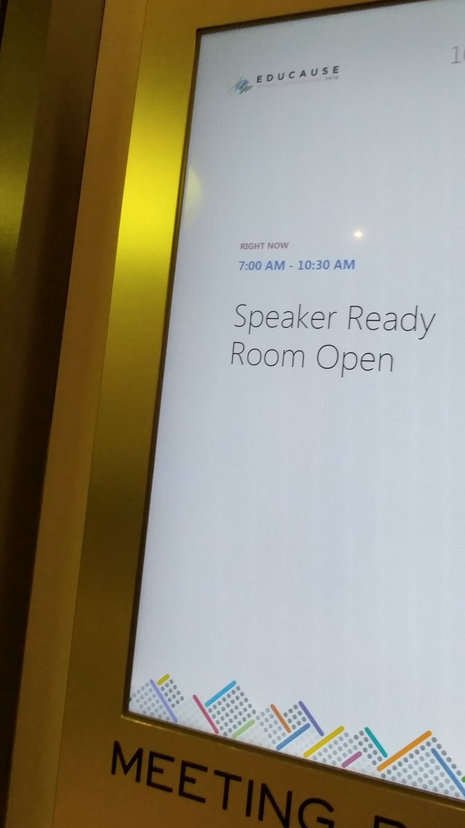 The Speaker Ready Room is now closed! A huge THANK YOU to the incredible presenters who helped make #EDU18 a huge success.