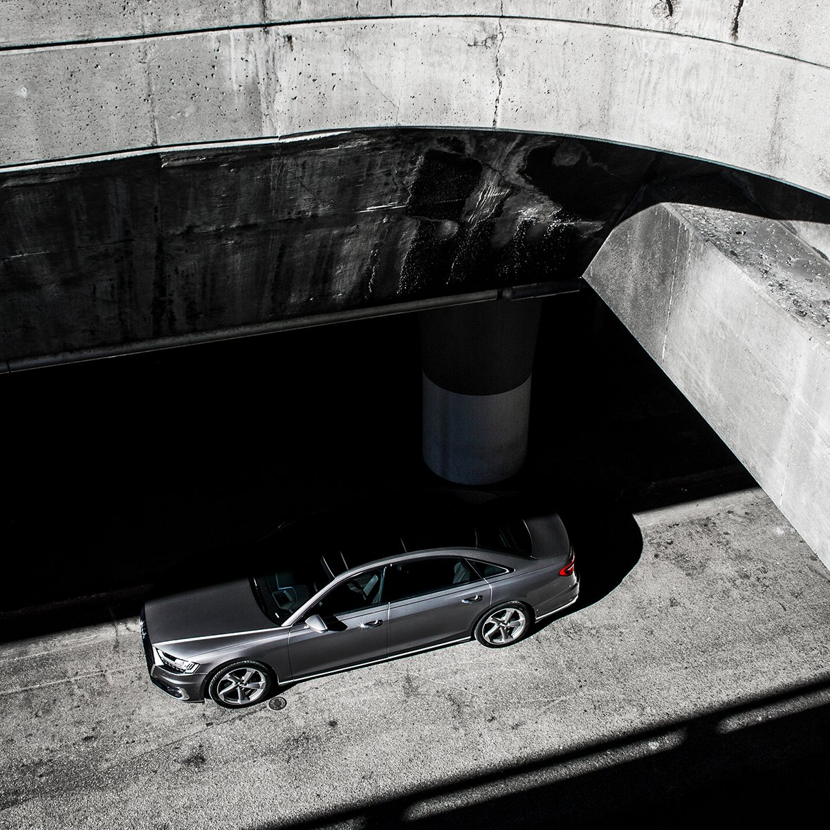 Grey is the new black. #AudiA8