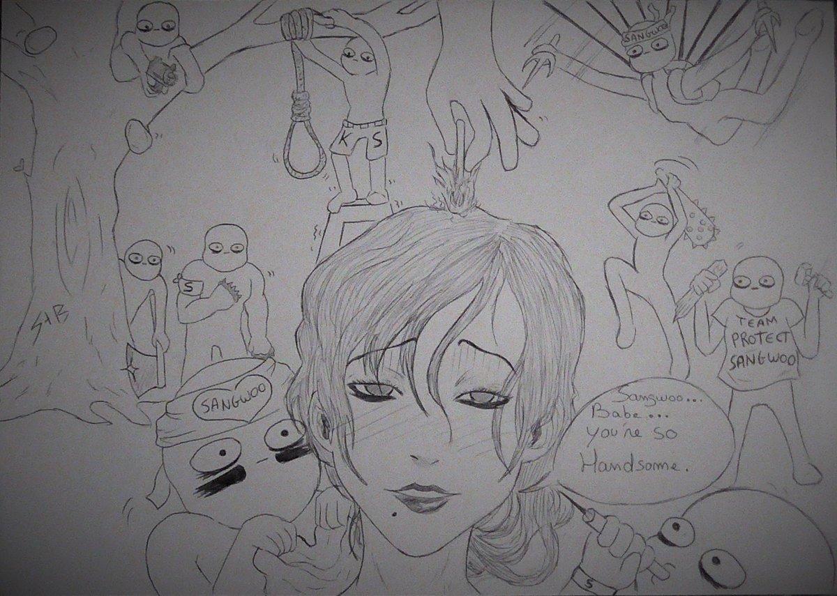 kooo_gi #KillingStalking A little sketch of Team Sangwoo v  Eunseo