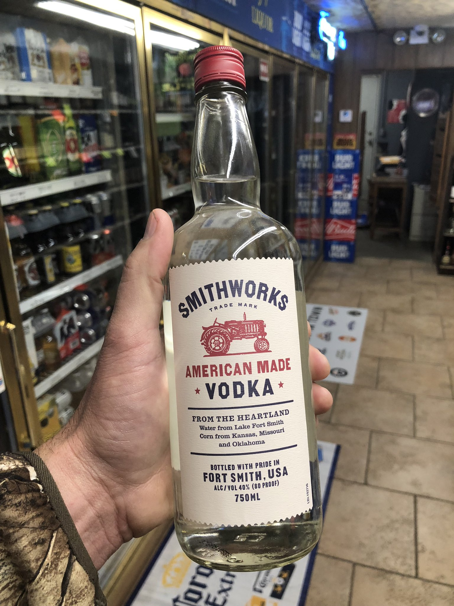 I love Kansas.. Thank you Hejny liquor in Great Bend for stocking @SmithworksVodka!!! Gonna be a good night.. https://t.co/zKQCYE2Zrb