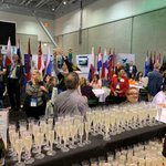 The party is in the Global Networking Center on the Expo floor! Cheers to all our global partners here to network and learn🥂