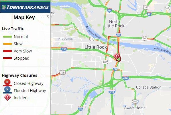 Arkansas Dot On Twitter Pulaski Co I 630 Eb Lanes Are Open