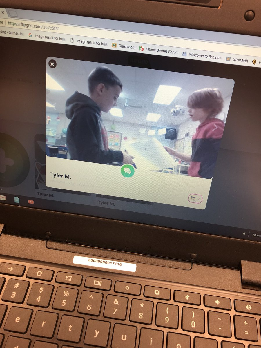 Thank you to @MrsEdmondsonCPE class for teaching us how to use @Flipgrid I'm so excited to start this in the technology center! ❤️