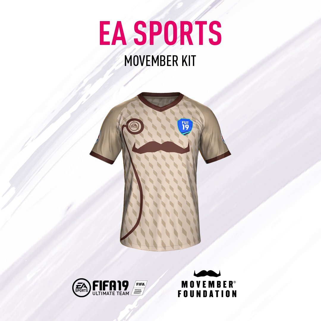 It's #Movember 👀! Get your kit on and show your support in game! #30Games30Days #FIFA19