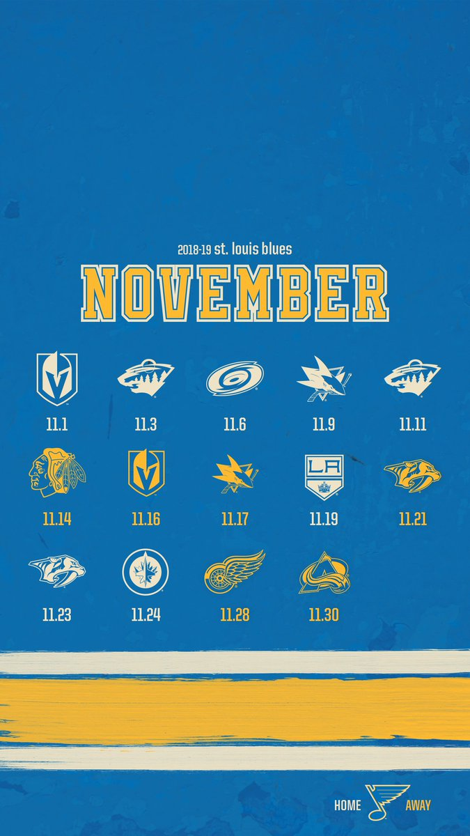 "St. Louis Blues on Twitter: ""November schedule wallpapers are here! #stlblues DOWNLOAD: https://t.co/4wO6mbgKk5… """