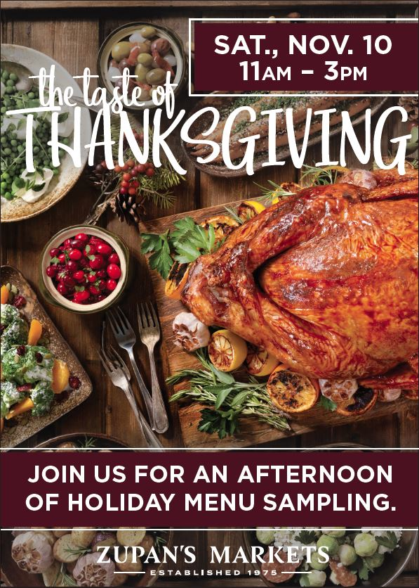 Join us for an afternoon of holiday menu sampling. Get a taste of our Complete Thanksgiving dinner, holiday beverages, appetizers, desserts &  more! https://t.co/upTKu9DRm9