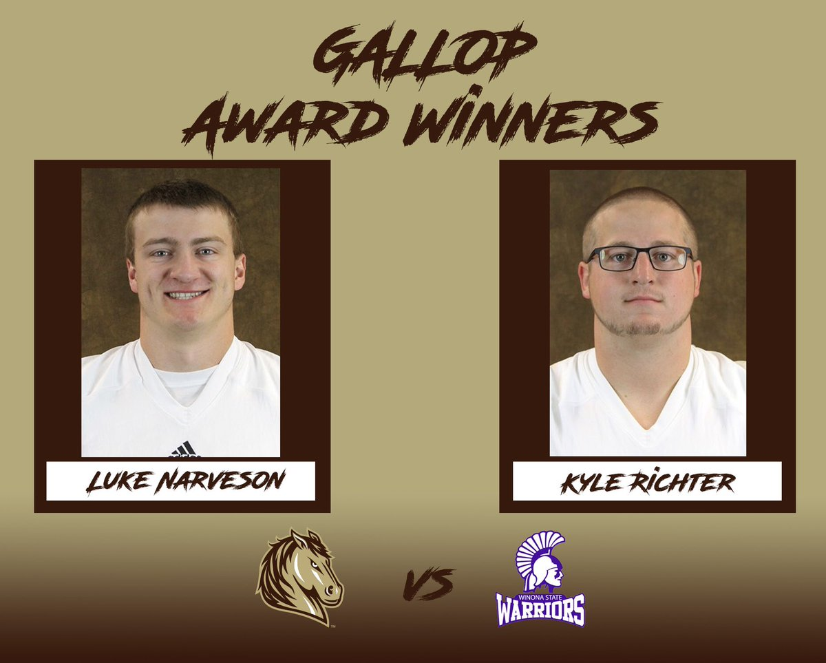 Smsu Football On Twitter Gallop Award Winners From Our Game