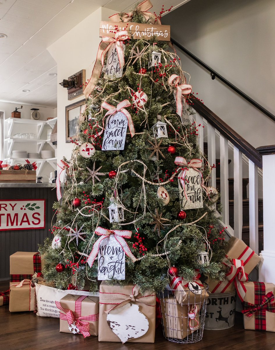 how michaels maker lilblueboo transformed her dream tree with galvanized metals and perfectly placed plaids us the tremendous tree event is happening now - Michaels Christmas Eve Hours