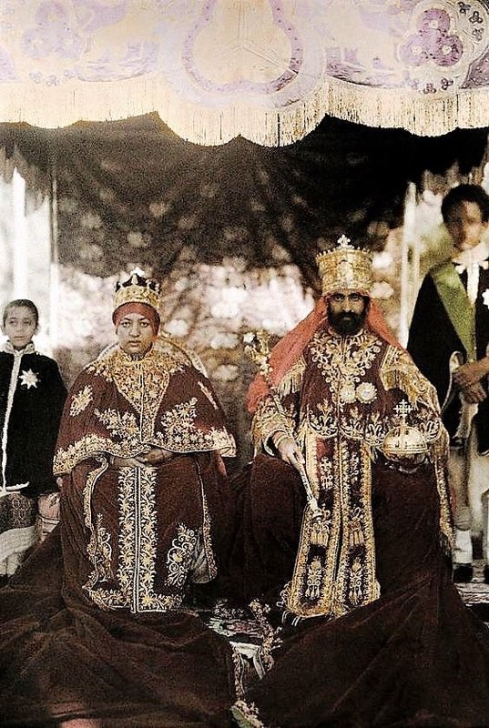 The coronation of Emperor Haile Selassie I and Empress Menen Asfaw on this day, Nov 2, 1930 #CoronationDay #Ethiopia