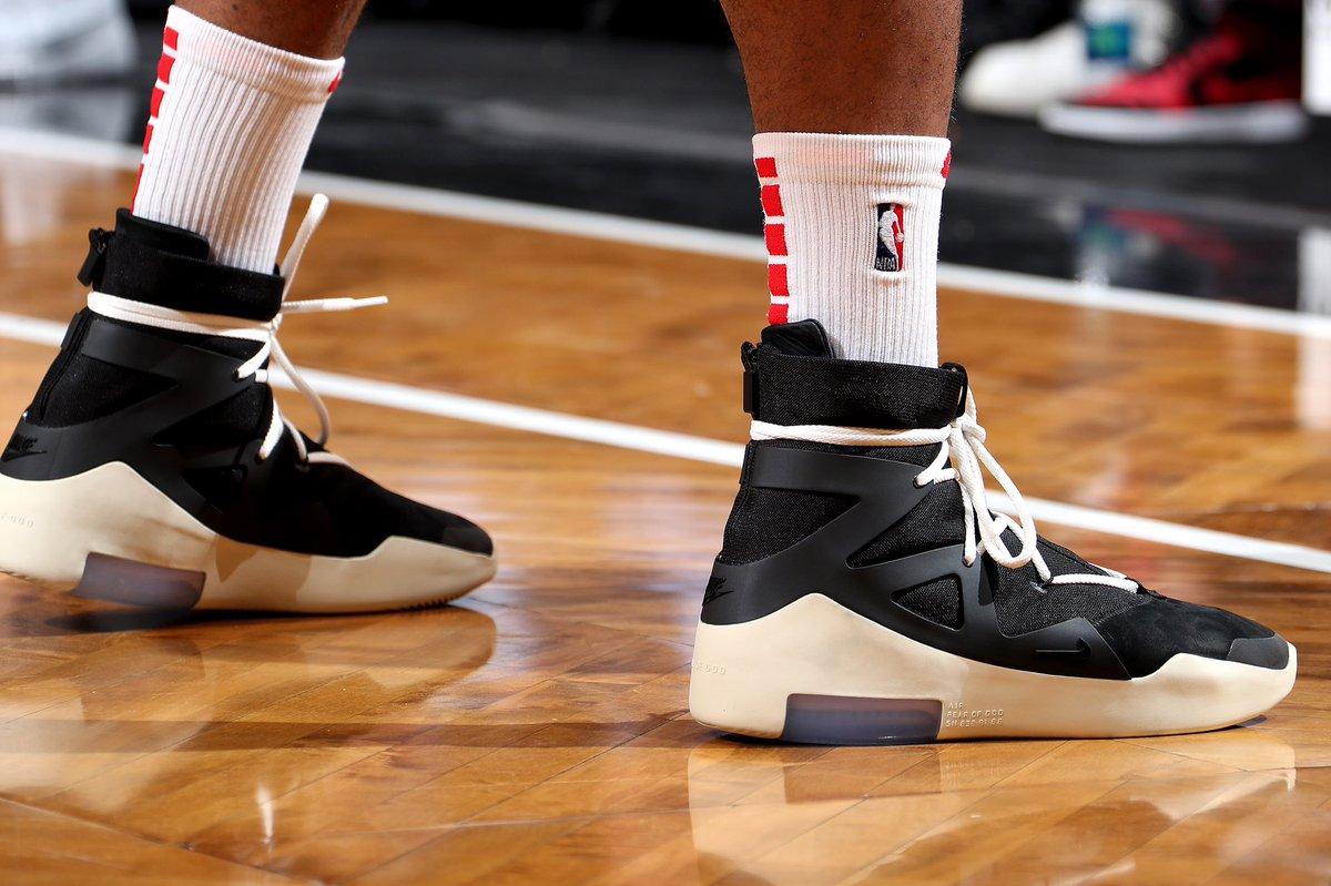 Pj Tucker Wearing The Nike Air Fear Of God 1 Against Brooklyn