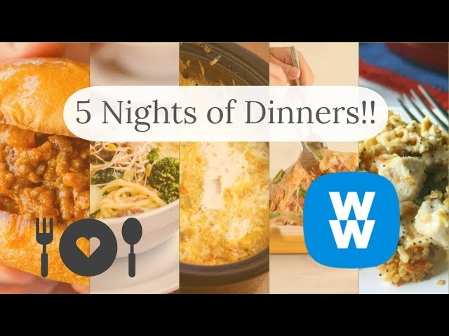 https://t.co/BzCfkOnTPD - 5 NIGHTS OF DINNERS #2!!!/ WEIGHT WATCHERS!! https://t.co/uC7ZthEJUd