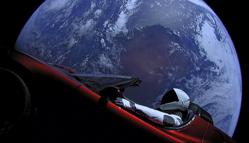 Tesla Starman (SpaceX Twitter feed)