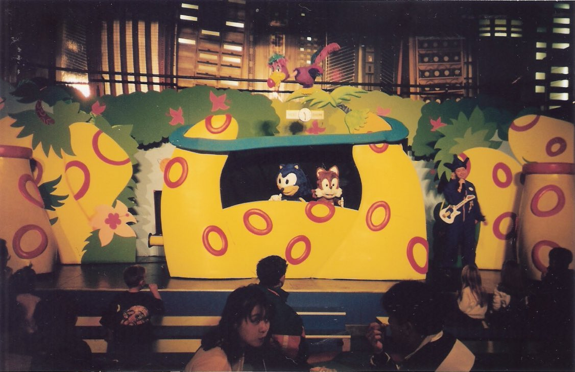 """Sega World Sydney Memoriam on Twitter: """"A photo of the Sega World Sydney  food court, where the Sonic Puppet Show performance could be viewed live.… """""""