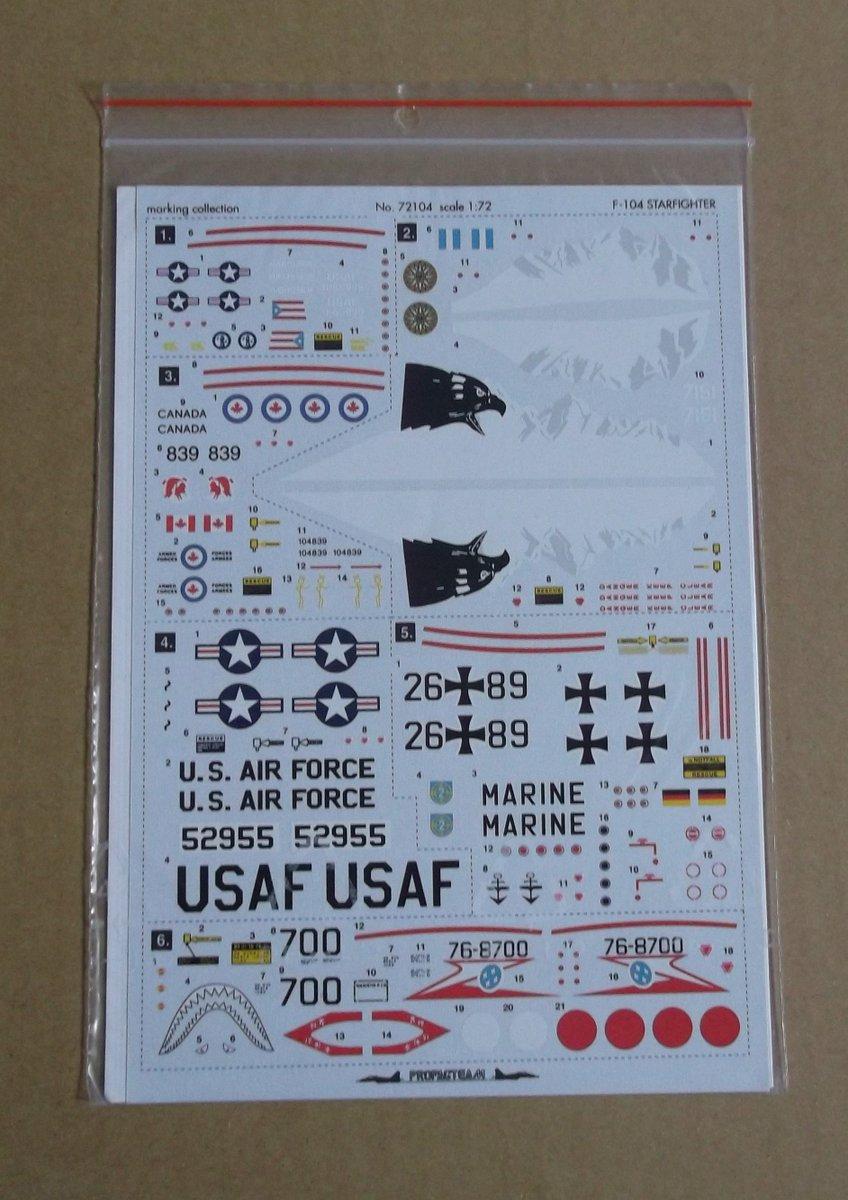 Propagteam Decals 1:72 Popisky Stencils Vought F4U Corsair #01472