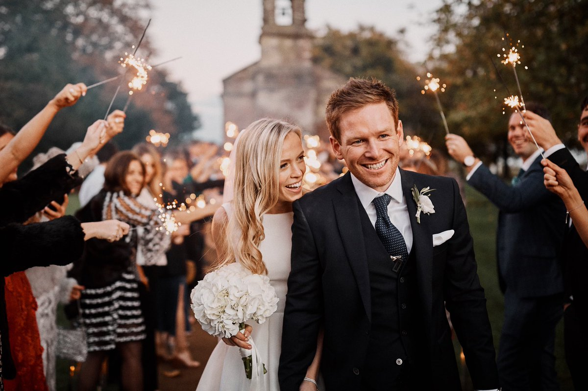 England Star Eoin Morgan Ties Knot With Tara Ridgway