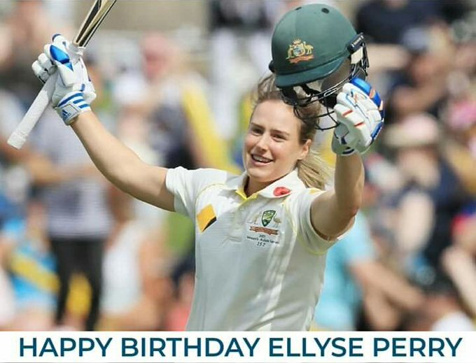 Australia woman cricketer, Ellyse Perry turns 28 today.  Happy Birthday...