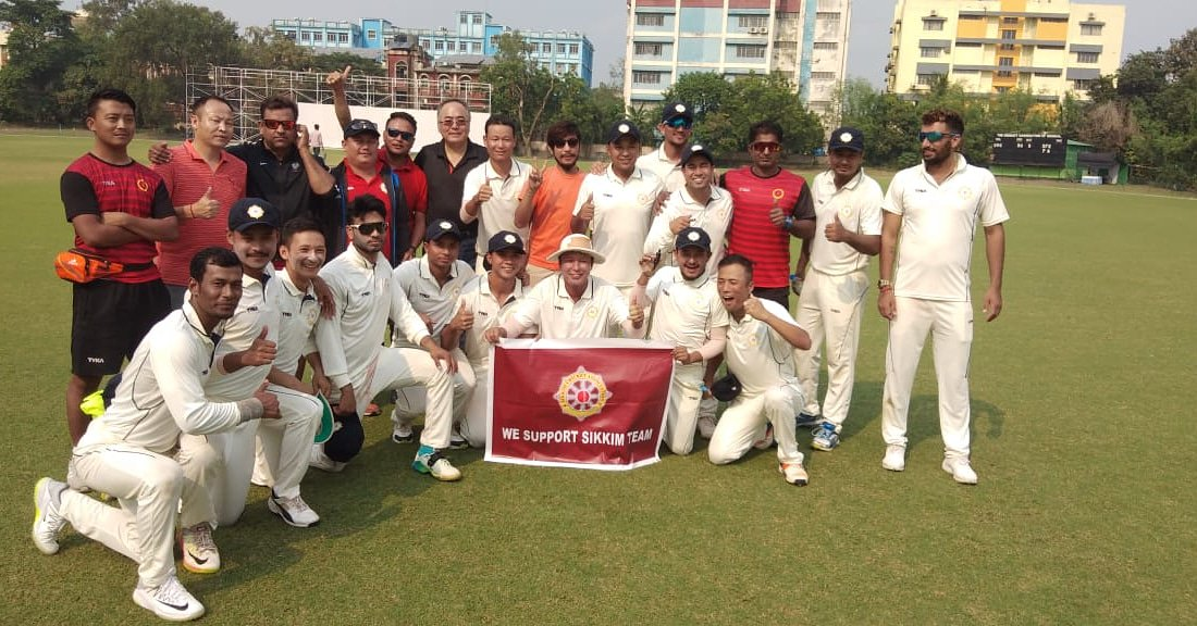 Sikkim wins their first ever Ranji Match with an innings and 27 runs.  #Cricket #SikkimCricketAssociation #CricketInSikkim #RanjiTrpohy #IndianDomesticLeague #Sikkim #NortheastIndia