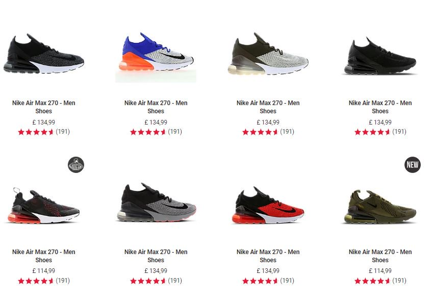 Loads of Air Max 270s