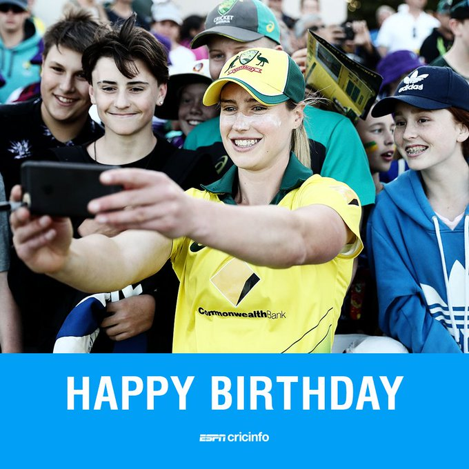 """ Happy birthday to Ellyse Perry! Is she your favourite cricketer?"