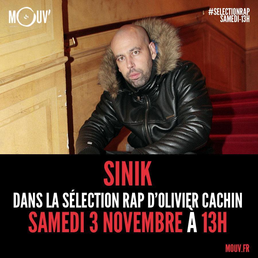 .@cachinolivier reçoit @SinikOfficiel dans sa #SelectionRap 🔥 Branche toi à 13h sur ta 📻 et en live vidéo 👉 http://mouv.fr