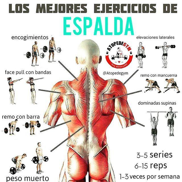 Rutina de ejercicios en el gym para espalda