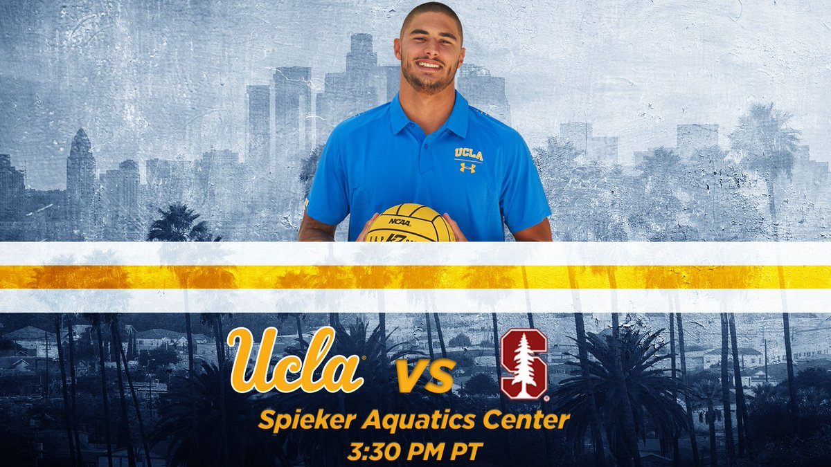 GAMEDAY! No. 4 @UCLAWaterPolo takes on No. 2 Stanford at Spieker Aquatics Center. #GoBruins