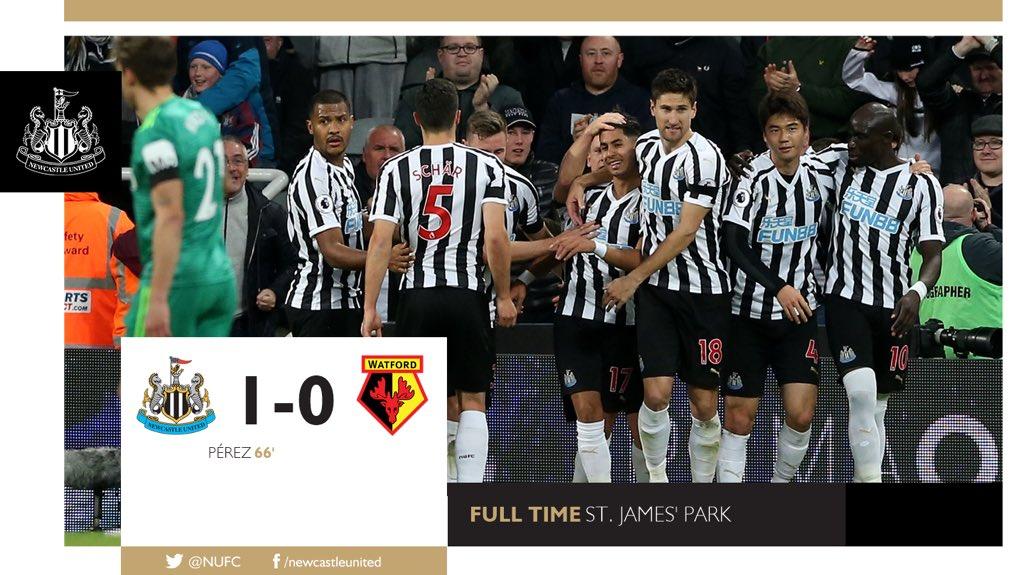 Maç Sonucu   Newcastle United 1-0 Watford  HASRET BİTTİ!  Bu anı çok bekledik. Şimdi kutlama vakti. Ayoze Perez'in attığı golle bu sezonki ilk galibiyetimizi alıyoruz. Tebrikler takım! 👏💪⚫️⚪️  #NUFC