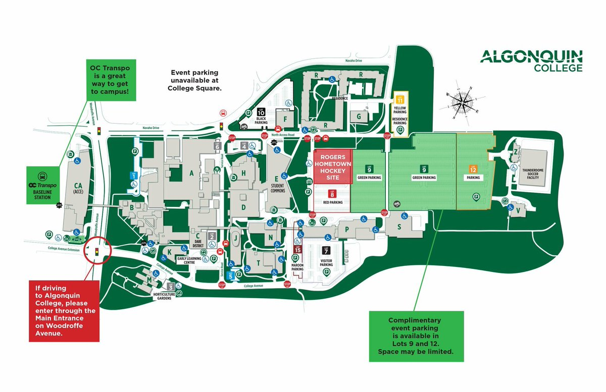 Algonquin College Campus Services On Twitter Heading To Algonquincolleg Today Or Tomorrow For Rogers Hometownhockey Take A Peek At The Map Below For Parking Info Oc Transpo Is Also A Great Way To