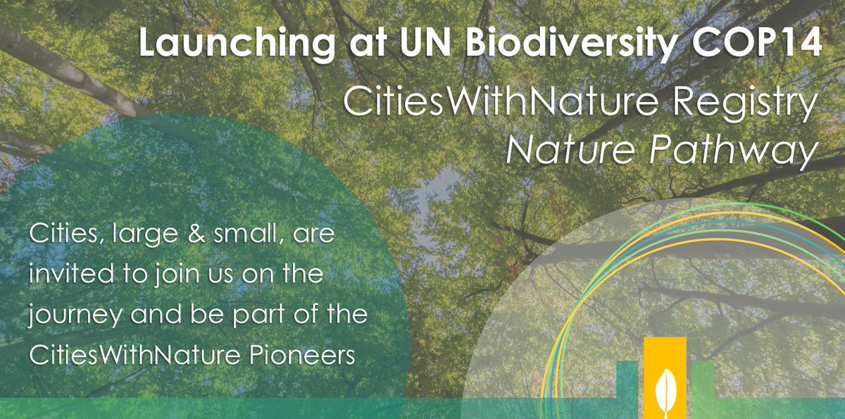 RT @IucnUrban Our friends and Urban Nature Alliance partners @ICLEI will be launching an exciting new initiative called the #CitiesWithNature registry at @EgyptCOP14 later this month. All city professionals are invited to attend and learn more.