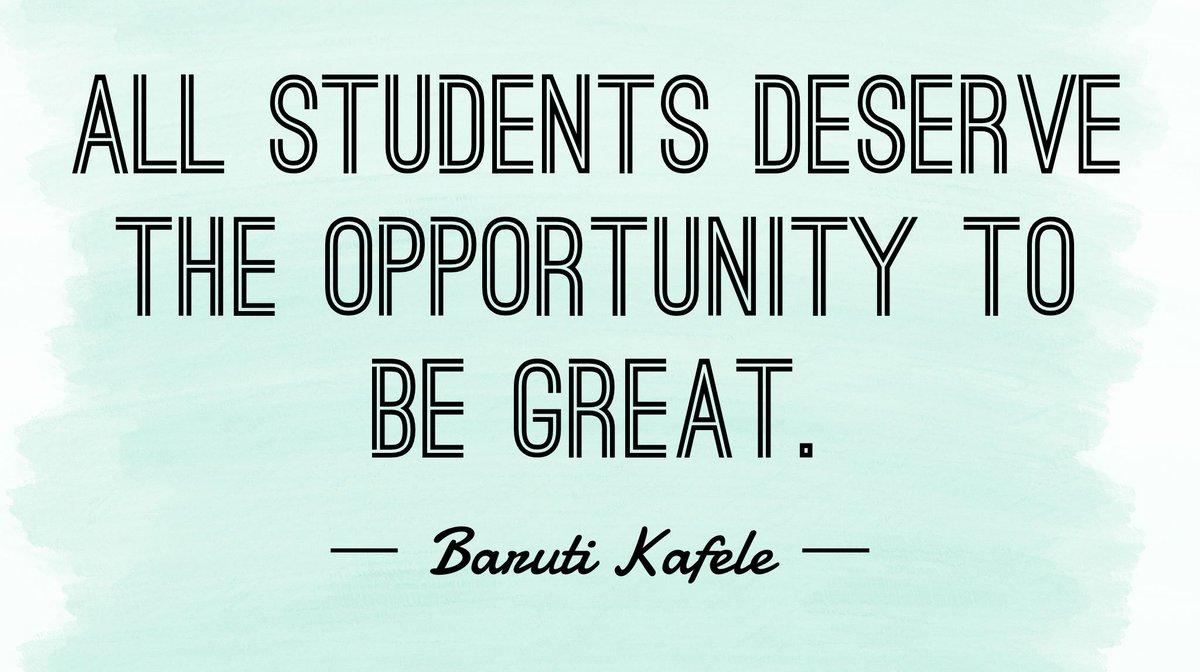 ALL students... @PrincipalKafele   #ascdilc #ASCDCEL #leadupchat